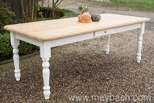 Tisch Esstisch Esszimmer Landhaus Massiv Shabby 150 cm mod.03 weiss/natur Neu
