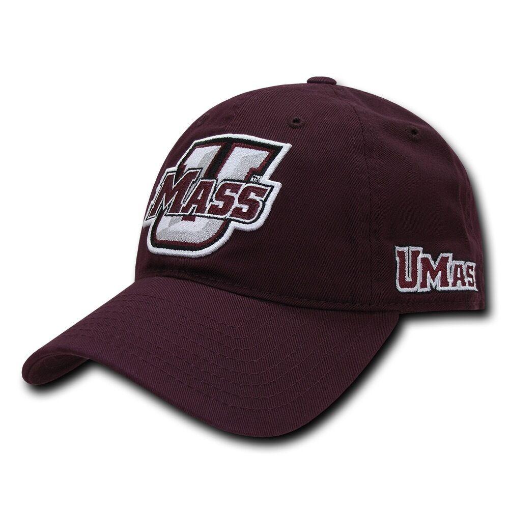 NCAA U Cotton Mass University of Massachusetts 6 Panel Relaxed Cotton U Baseball Caps Hat 49f696