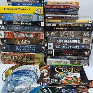 Super-HUGE-Bundle-Lot-of-PC-Windows-Computer-30-Plus-Video-Games