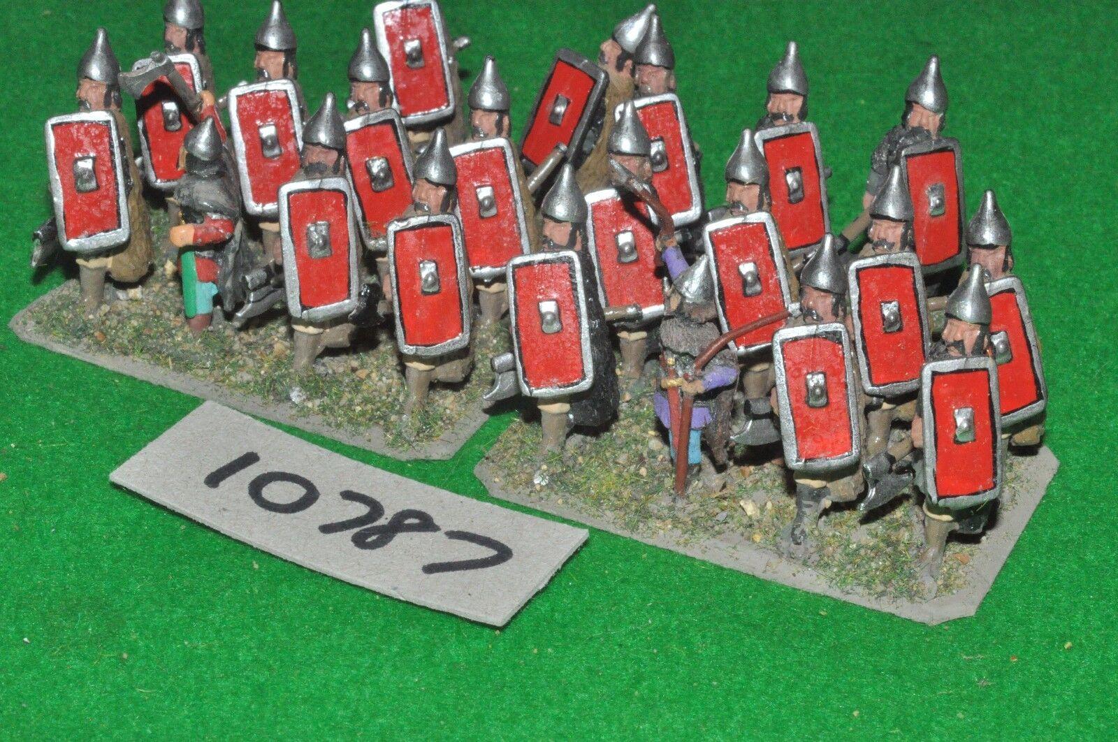 25mm mittelalter   slawisch - infanterie 21 feigen - inf (10787)