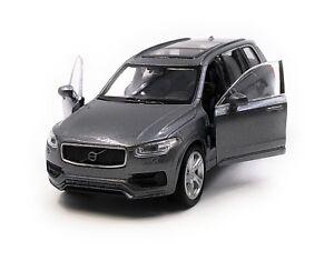 Maquette-de-Voiture-Volvo-XC90-Tous-Terrains-Gris-Auto-1-3-4-39-Licence