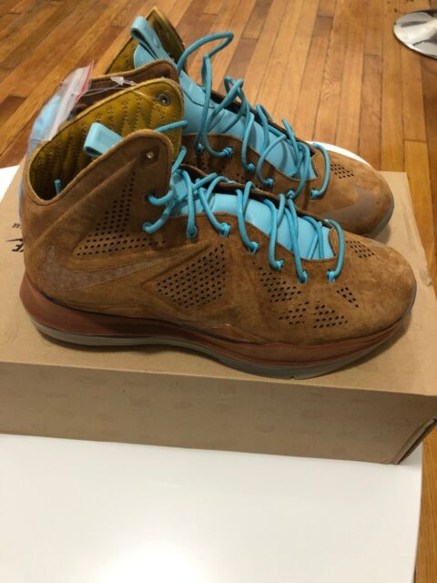7c9ad2f0aad6 Mens Nike Lebron X EXT QS Cork Shoes SNEAKERS 607078 200 for sale ...
