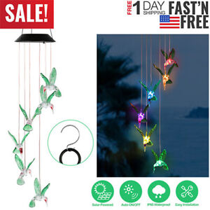 Solar-Color-changing-LED-Hummingbird-Wind-Chime-Decor-Hanging-Lights-Outdoor-US