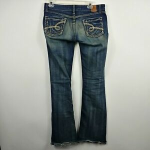 BKE-Buckle-Womens-Stella-Jeans-28-Bootcut-32x35-Stretch-Low-Dark-Wash-Stitched
