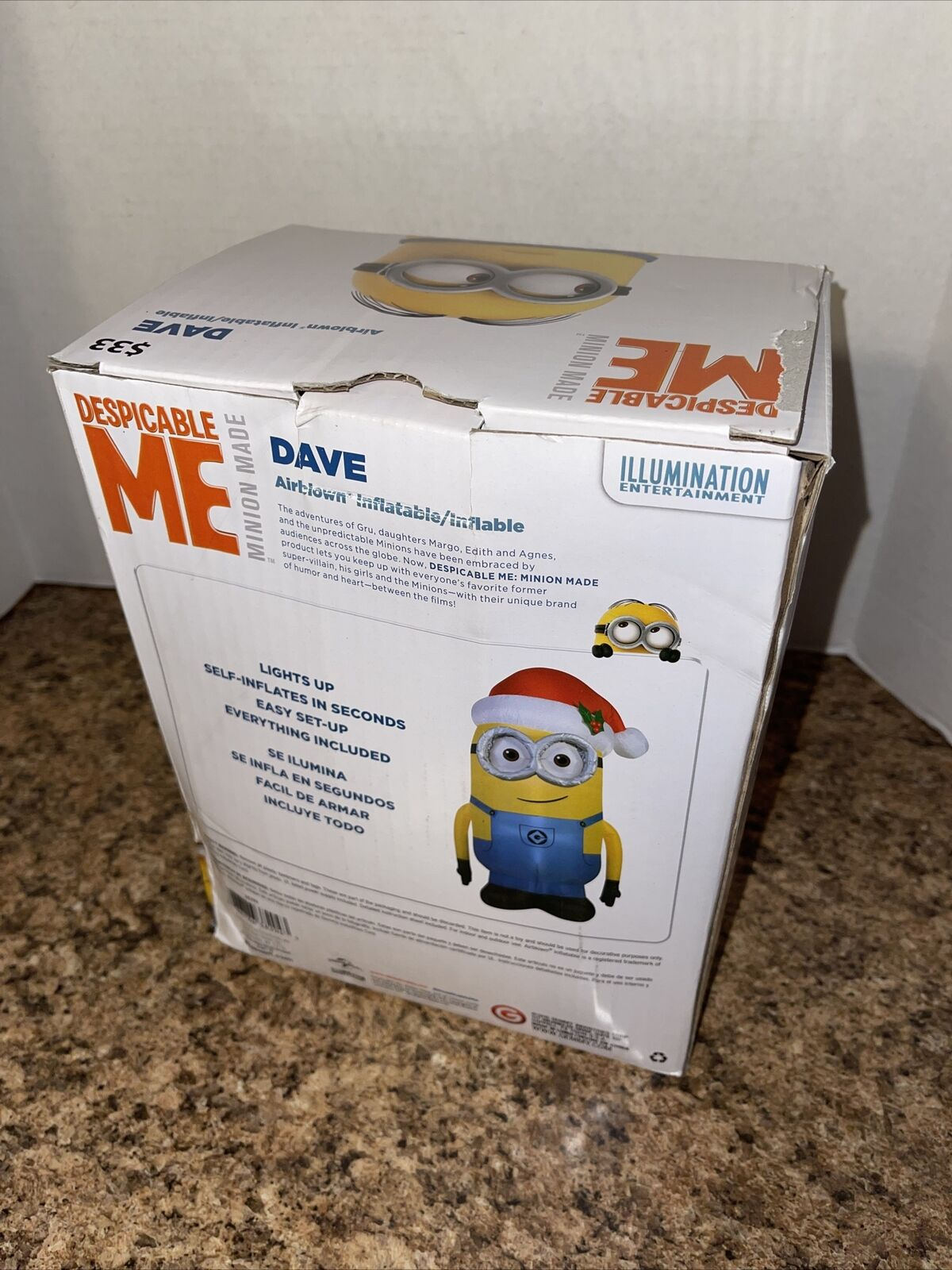 MINION DESPICABLE ME KIDS PADDLING POOL  INFLATABLE SWIMMING GARDEN DAVE KEVIN