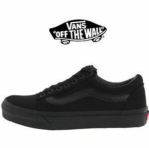 6158bdbe18aee8 Mens Vans Old Skool Fashion Sneaker Core Classic Black Canvas Suede ...