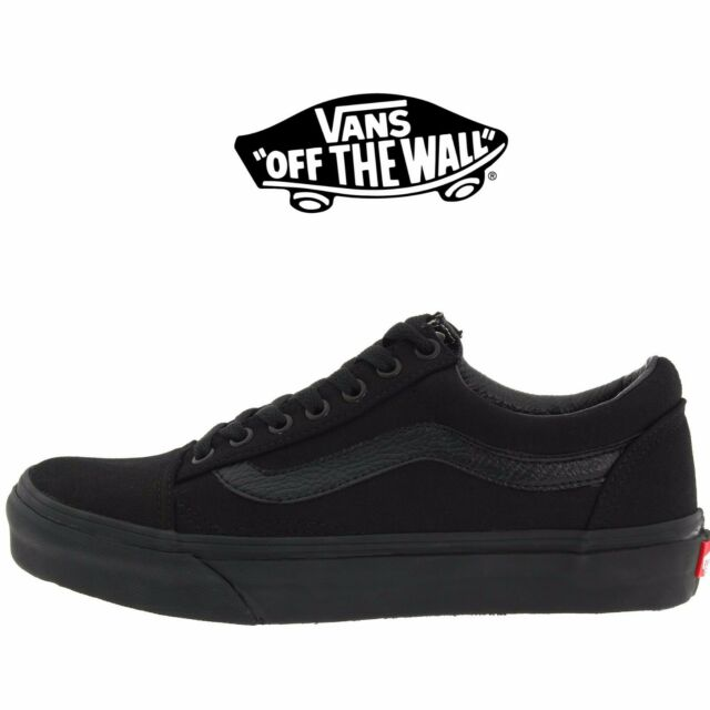 Mens Vans Old Skool Fashion Sneaker Core Classic Black Canvas Suede All Size NEW