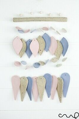 Redelijk New Handmade Garden Hanging Ceramic Windchime Pink Brown White Diamond M27stpb