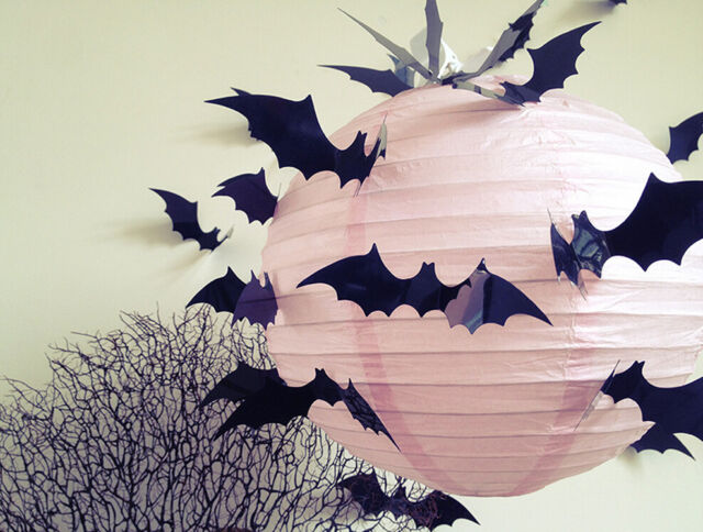 12Pcs Black 3D Diy Pvc Bat Wall Sticker Decal Home Halloween Decoration Party