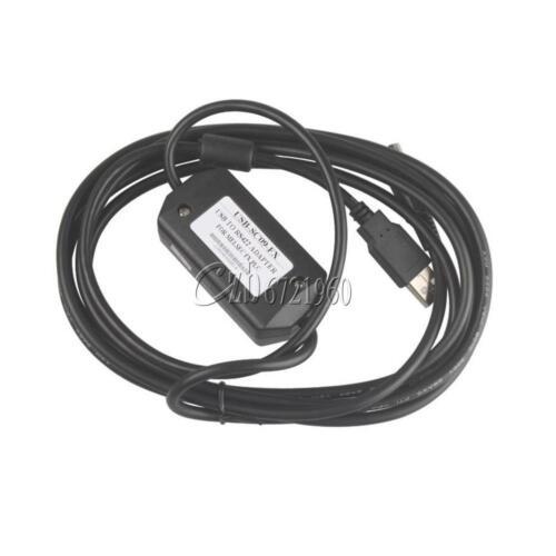 USB to RS422 8P Mini Din PLC Programming Cable for Mitsubishi USB-SC09 FX