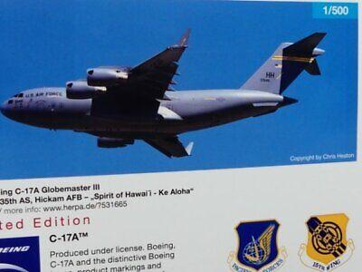 Air Force 05-5146  531665  Modellairport500 Herpa Wings 1:500 Boeing C-17A  U.S