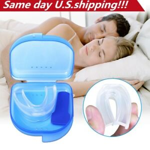 Stop-Snoring-Mouthpiece-Sleep-Apnea-Guard-Bruxism-Anti-Snore-Pure-Grind-Aid-Tray