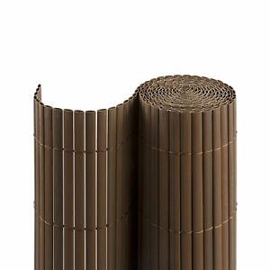 PVC-Sichtschutzmatte-Sichtschutz-Balkon-Sichtschutzzaun-140x500-cm-braun-B-Ware
