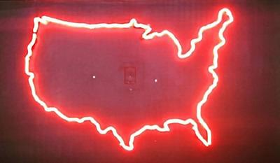 "New Map Of USA Artwork Wall Decor Acrylic Neon Light Sign 20/""x16/"""