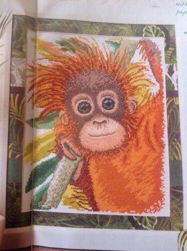 Jungle Baby Orangutan Cross Stitch Chart P
