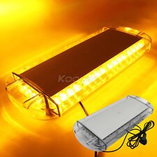 """NEW LED Roof 40 LED SOLID Amber Emergency Plow Tow Truck 22"""" Strobe Light Bar"""
