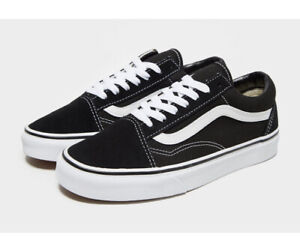 VANS Womens Old Skool Black White Size