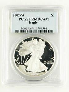 2002-W-PCGS-PR69DCAM-PROOF-AMERICAN-EAGLE-1-OZ-SILVER-DOLLAR-GRADED-SLABBED-COIN