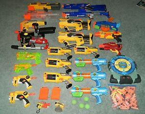 Nerf-N-Strike-Rev-6-Firefly-Buzsaw-Deploy-Rapid-Fire-Longstike-25-gun-Lot