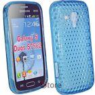Cover Custodia Per SAMSUNG Galaxy S Duos S7562 Azzurro Gel TPU + Pellicola