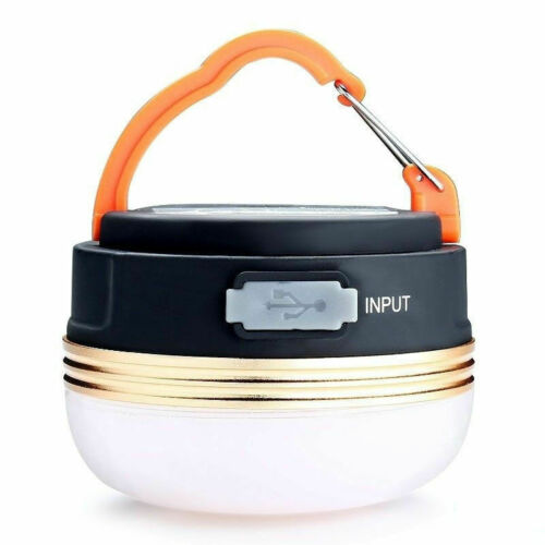 2-In-1 Rechargeable Camping Lantern /& Power Bank Charger Outdoor Tent Light Lamp