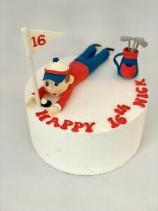 Excellent Personalised Edible Golf Birthday Cake Topper Set Golf Boy Bag Birthday Cards Printable Riciscafe Filternl