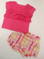 Girls Clothes Baby Girls Outfits Shirts Shorts Tops Style Variety 2 Pcs 0-3 Mos