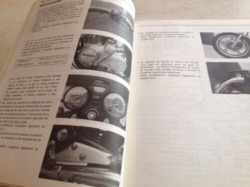 Suzuki GS650GT GS650GL GS GL 650 supplement revue moto technique manuel atelier
