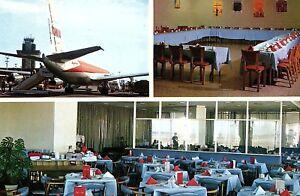 Vintage-Savarin-International-Room-Oakland-Airport-Oakland-CA-Postcard-P128