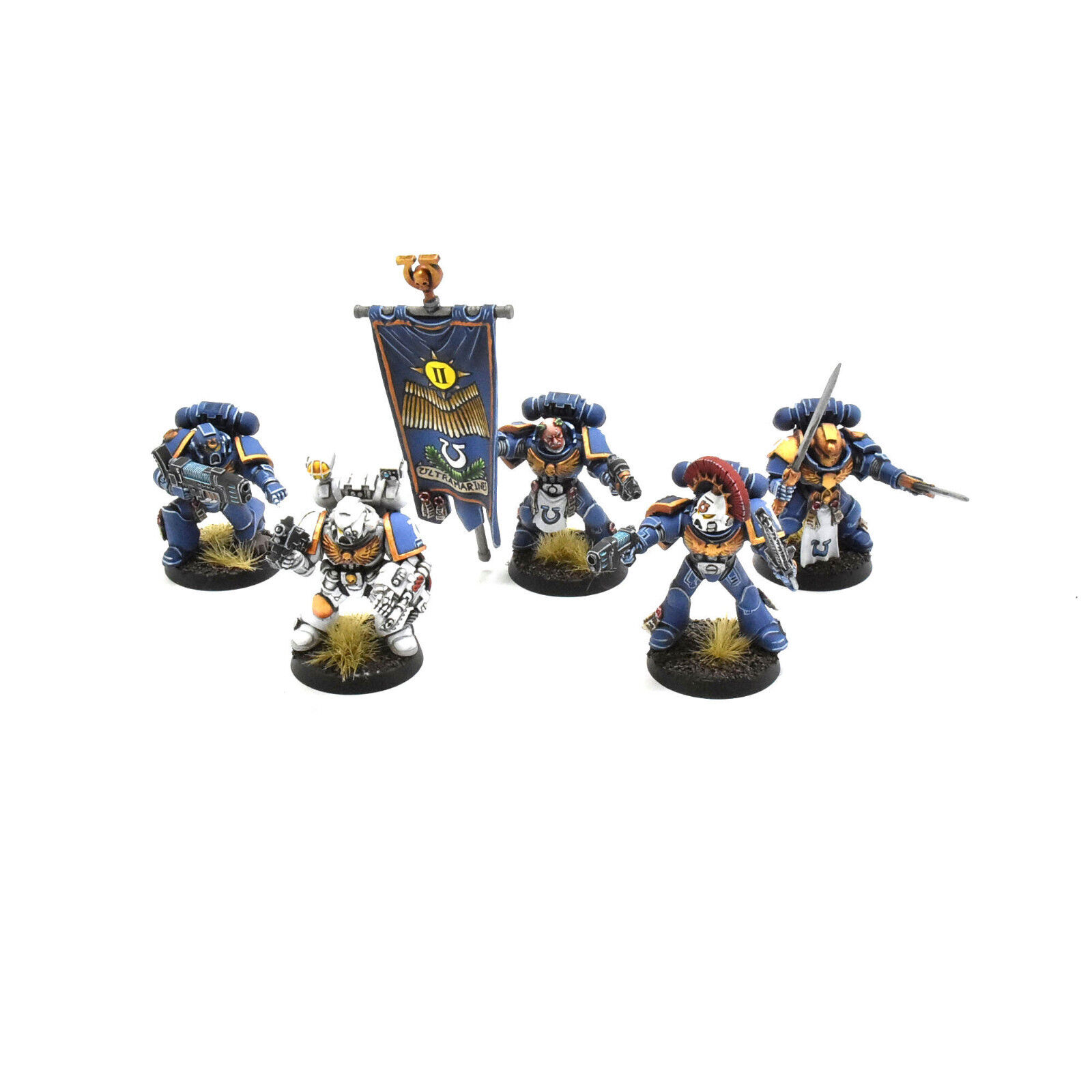SPACE MARINES command squad PRO PAINTED Warhammer 40K ultramarines