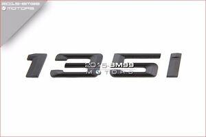 Matte Black Trunk Emblem Badge Letters for BMW E82 E87 F20 F21 1-Series 130i