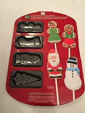 Wilton 2105-0286 8 Cavity Christmas Pops Cookie Treat Pan New