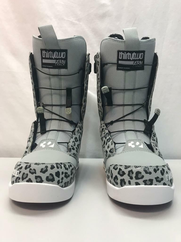 Thirtytwo 32 Women 86 FT Snowboard Boots Size 8 Grey Leopard NEW