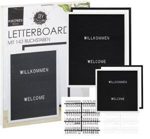 Letter-Board-Stecktafel-Memoboard-Messageboard-schwarz-oder-weiss-versch-Groessen