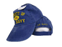 Property Of Us Navy Blue Jeans Washed Style Hat Cap