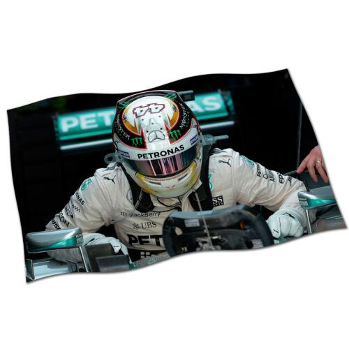 Lewis Hamilton Flag Banner NEW Mercedes 44 Petronas Formula One F1 British GP