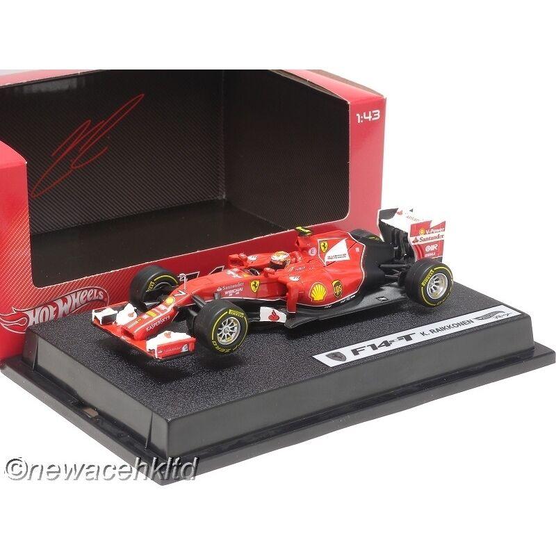 más orden Ferrari Ferrari Ferrari F14-T F1 Grand Prix 2014 K. Raikkonen Hotwheels 1 43  BLY70  Vuelta de 10 dias