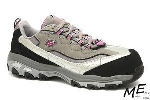 New Skechers D'lites Service SR Service D'lites Safety Toe Damens Hiker Leder Work 1d0e40