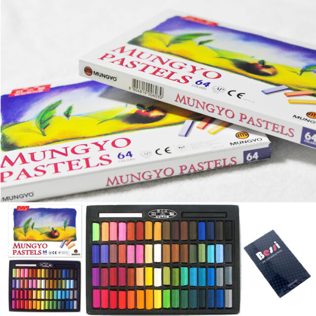 Mungyo Non Toxic Mungyo Soft Pastel Set of 64 Assorted Colors Square Chalk