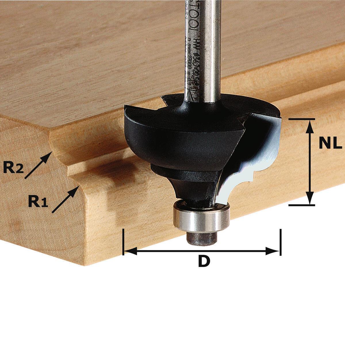 FESTOOL Multiprofilfräser HW Schaft 8 mm HW S8 D36,7/R6/R6 - 491031