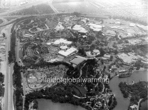Sky View of Disneyland 1962 Photo