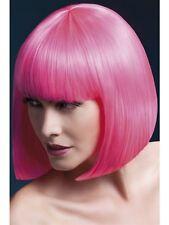Elise Wig Neon Pink Short Bob New Adult Halloween Cristmas Womens Accessories