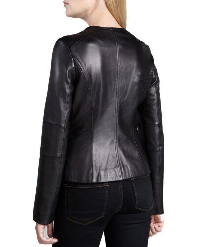 cuir Veste en slimstyle pour biker femmenoircoupe 8n0OwkP