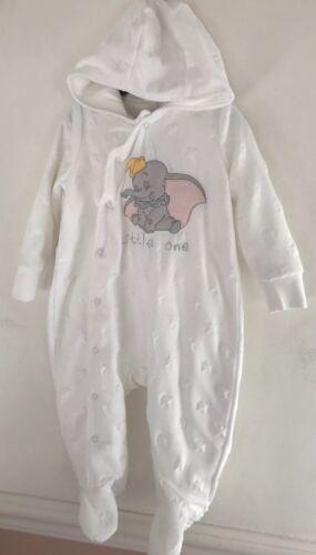 Disney Baby Dumbo 3-6 Months Hooded Velour Pramsuit