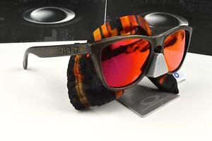 Nuevas-Gafas-de-sol-Oakley-Frogskins-Fall-out-Marron-Lente-de-decaimiento-Rubi-Iridium-24-414