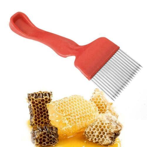 Bee Keeping Bienenzucht Honig Wabe Edelstahl Tine entdeckeln Gabel J7W7 Spa O2N0