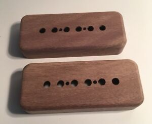 Details about Guilford American Black Walnut P-90 Pickup Covers -2 Covers  Fits Gibson, Lollar