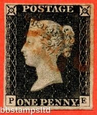 """SG. 2. A1 (2). AS15. """" PE """". 1d black. Plate 2. A good sed example."""