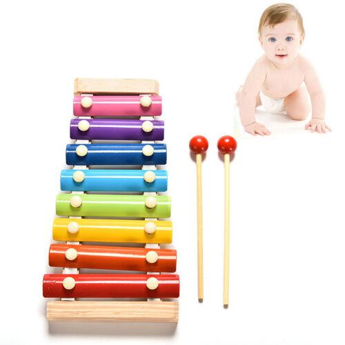 Baby Kid Educational 8 tone Xylophone Musical Toys Wooden Developmental Toys HC