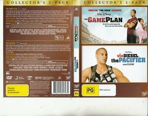 Details about The Game Plan-2007-Dwayne Johnson/The Pacifier-2005-[2  Movie-2 DVD]-Movie-DVD